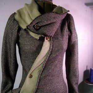 Handmade Asymmetrical Sweater Jacket